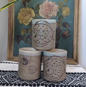 Other - Beautiful Ceramic Japanese Tea Cups - 3x